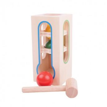 Motorické a didaktické hračky - Zatloukačka - věž