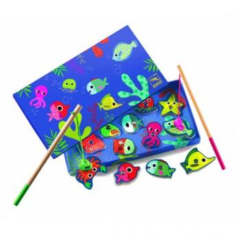 Motorické a didaktické hračky - Rybaření barevné rybky