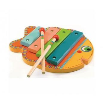 Dětské hudební nástroje - Xylofon Rybička