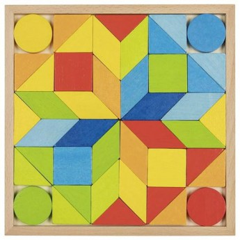 Hry a hlavolamy - Dřevěný hlavolam – Mozaika, 44 díly