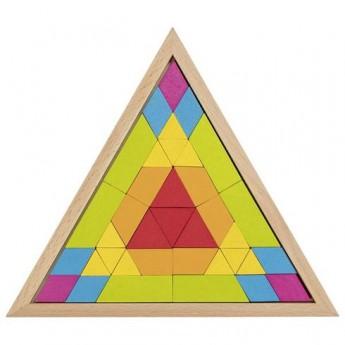 Skládačka mozaika – trojúhelník, 37 dílů