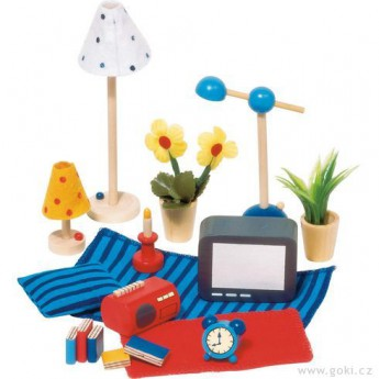 Pro holky - Doplňky pro panenky do obývacího pokoje a ložnice