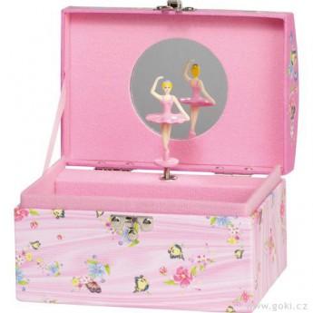 Pro holky - Hrací skříňka s motýlky, melodie Labutí jezero
