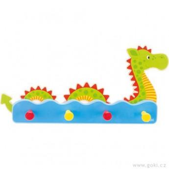 Dětský pokojíček - Dětský věšák ze dřeva – vodní příšerka