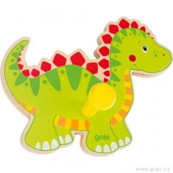Dětský pokojíček - Dřevěný věšáček – dinosaurus