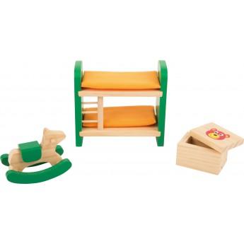 Pro holky - Nábytek pro panenky - Dětský pokojíček 3 díly