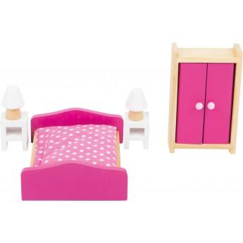 Pro holky - Nábytek pro panenky - Ložnice 6 dílů