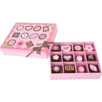 Pro holky - Dřevěná bonboniéra - pralinky