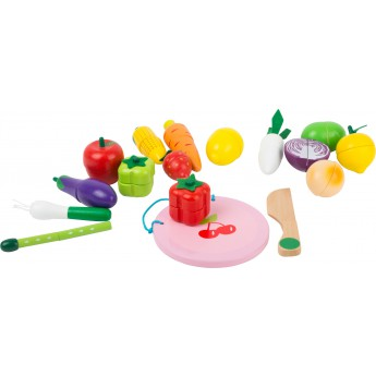 Pro holky - Dřevěný magnetický set ovoce a zelenina