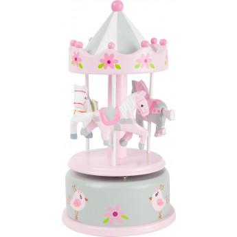 Hrací skříňky - Hrací skříňka Koníci, růžová