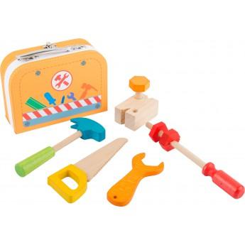 Pro kluky - Dřevěné nářadí v kufříku