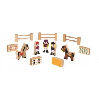 Dřevěné farmy a příslušenství - Postavičky a zvířátka - Koníci