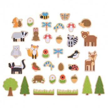 Magnetky - Lesní zvířátka 35 ks