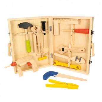 Kufřík s nářadím dřevěný