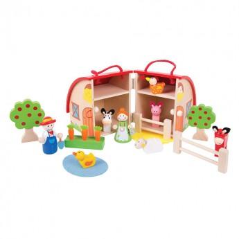 Dřevěné farmy a příslušenství - Hrací set Farma