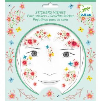 Pro holky - Samolepky na obličej květinová víla