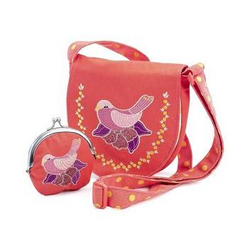Pro holky - Set kabelka a peněženka Růžová holubice