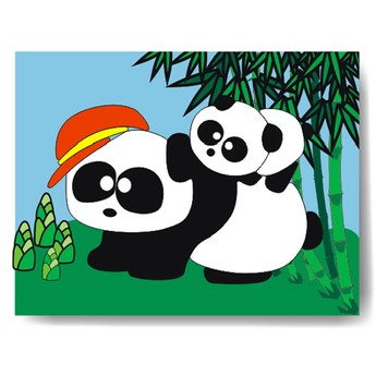 Puzzle - Vkládačka - Panda
