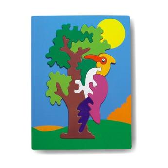 Puzzle - Vkládačka - Papoušek