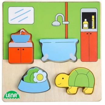 Puzzle - Vkládačka Koupelna