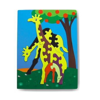 Puzzle - Vkládačka - Žirafy