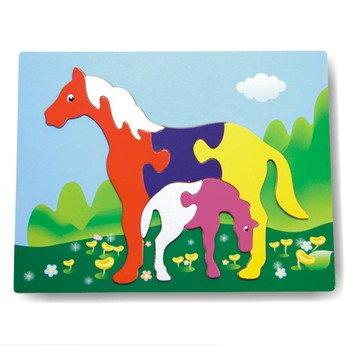 Puzzle - Vkládačka - Koně