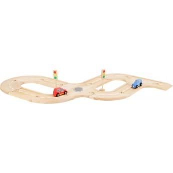 Pro kluky - Dřevěná autodráha s příslušenstvím