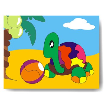 Puzzle - Vkládačka - Želva
