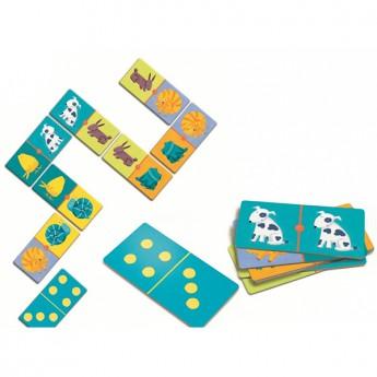 Hry a hlavolamy - Domino Barevná zvířátka
