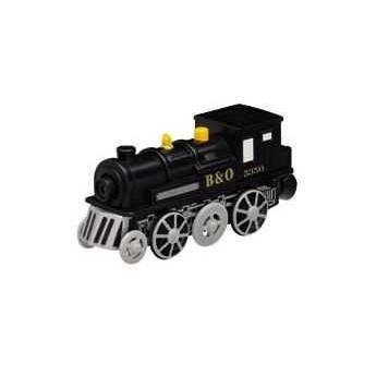 Pro kluky - Příslušenství k vlačkodráze - Elektrická lokomotiva černá