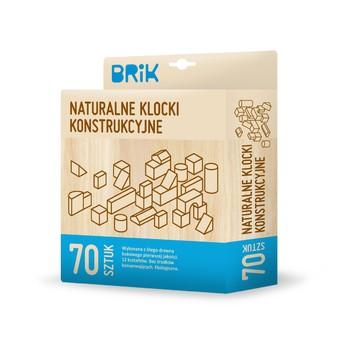 Kostky a stavebnice - Dřevěné kostky natural - 70 ks
