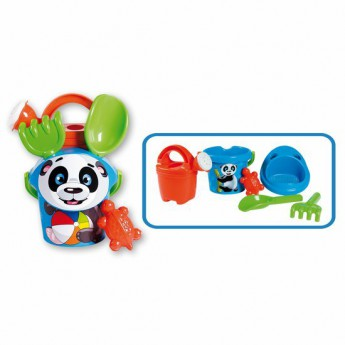 Hračky na ven - Sada na písek panda s konvičkou - malá