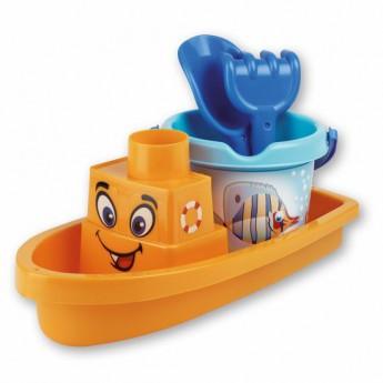 Hračky na ven - Sada na písek rybičky s lodí