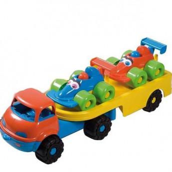 Hračky na ven - Veselá autíčka na návěsu - formule