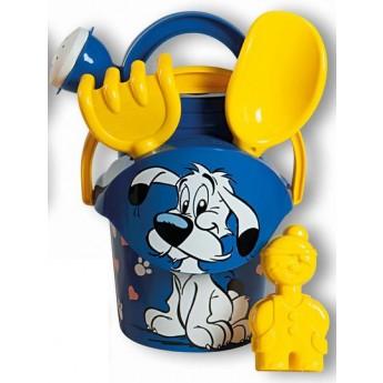 Hračky na ven - Sada na písek Asterix s konvičkou - modrá