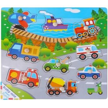 Dětské dřevěné puzzle s úchyty Doprava