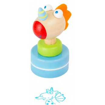 Výtvarné a kreativní hračky - Dřevěné razítko - Dráček