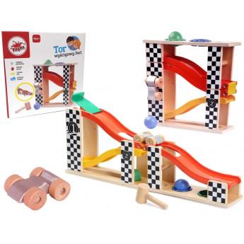 Motorické a didaktické hračky - Dráha a zatloukačka 2v1