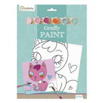 Malování na plátno Kočička