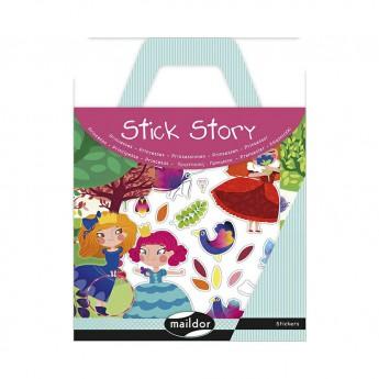 Výtvarné a kreativní hračky - Příběhový sešit se samolepkami Princezny