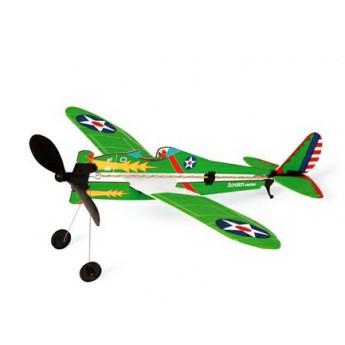 Pro kluky - Vrtulové stíhací letadlo na gumu