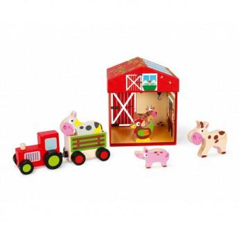 Dřevěné farmy a příslušenství - Farma se zvířátky 2v1
