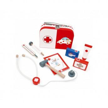 Pro holky - Doktorský kufřík bíločervený