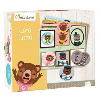 Hry a hlavolamy - Dětská hra Loto Zvířecí rodinka