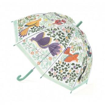 Pro holky - Dětský deštník Květiny a ptáci