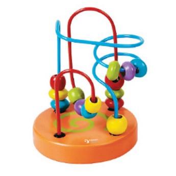 Motorické a didaktické hračky - Labyrint - Korálky (oranžový)