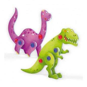 Tecno Puzzle 3D - brontosaurus a T-Rex