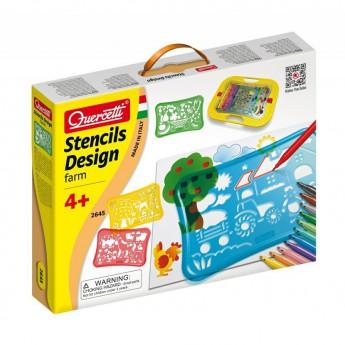 Výtvarné a kreativní hračky - Šablony - Design Farm Stencils