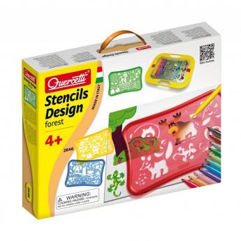 Výtvarné a kreativní hračky - Šablony - Design Forest Stencils