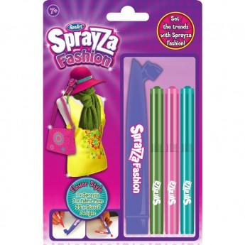Výtvarné a kreativní hračky - Foukací fixy na textil s šablonou - Flower Style